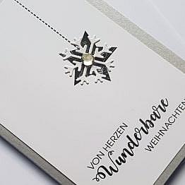 silber-stern-weihnachtskarte